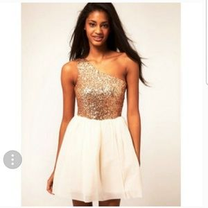 ASOS Sequined One Shoulder Party Dress